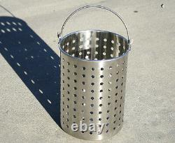 CONCORD Stainless Steel Stock Pot with Basket. Heavy Kettle. Cookware for Boiling