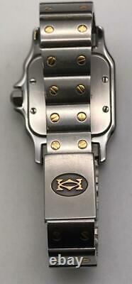Cartier 1567 Santos Galbee Two Tone 18K Gold & Stainless Steel Swiss Quart Watch