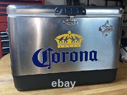 Coleman cooler -Corona Stainless Steel Beer Cooler 54 quart New open box product