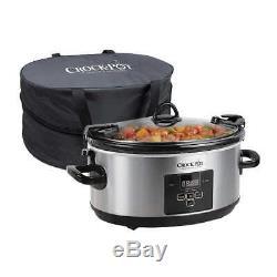 Crock-Pot 7Quart Programmable Cook & Carry Extra Large Slow Cooker Digital Timer
