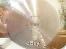 Cutco 7 Quart 15 Wok & LID Stainless Steel Waterless Cookware USA