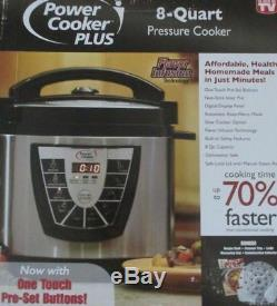 Digital Power Pressure Cooker CANNER PLUS XL Electric 8 Quart Stainless Steel