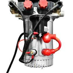 Double Acting Hydraulic Pump 12V Dump Trailer-8 Quart Translucent Reservoir