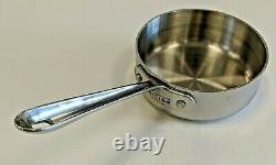 EXCELLENT All-Clad Stainless Steel 1 Quart Sauce Pan Pot William Sonoma