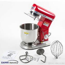 Electric 7.4 Quart Mixer Machine 3 Speed Bakery Kitchen Blender Food Kitchen