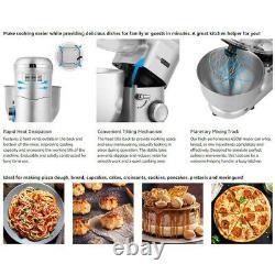 Electric Food Stand Mixer 650W 6 Speed 6 Quart Tilt-Head Kitchen Beater Silver