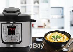Electric Instant Pot Pressure Cooker 6 in 1 Programmable 6 Quart Steel Instapot