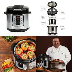 Emeril Lagasse Pressure Cooker Plus 6 Quart Air Fryer Dual Lit Stainless Steel