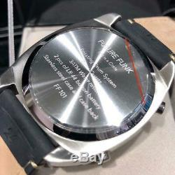 FUTURE FUNK ANALOG Retro Wrist Watch Japan Rare Quarts Mens Leather Band