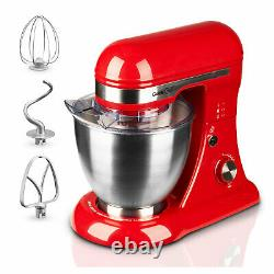 Geek Chef GSM45B Stainless Steel 4.8 Quart Bowl 12 Speed Baking Stand Mixer, Red