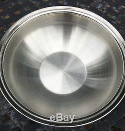 Genuine Saladmaster 316Ti Titanium Stainless Steel 5 quart Wok with lid & handles