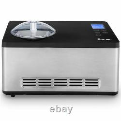 Goplus 2.1 Quart Ice Cream Maker Frozen Machine Stainless with LCD Timer Control