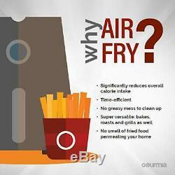 Gourmia Air Fryer 6-qt Quart Digital Multi Mode AirFryer Stainless Steel