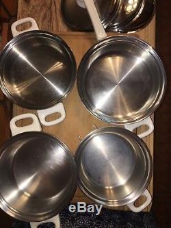 Healthcraft Waterless Cookware 8 Piece Set 1.25, 2 & 3 Quart, 9 Skillet withLids