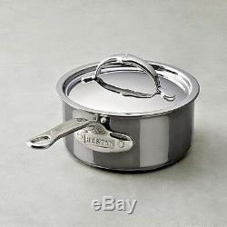 Hestan Nanobond 1.5 Quart Sauce Pan Tri Ply Stainless Steel Italy 60021 NIB