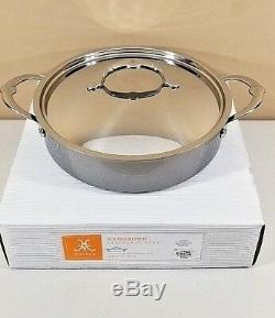 Hestan Nanobond 3.5 Quart Stainless Steel Covered Sauteuse Saute Pan with Lid NIB