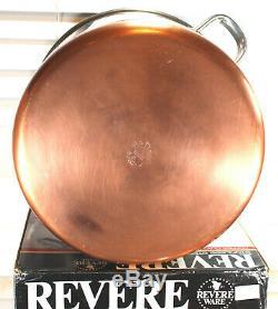 Huge Commercial Grade Copper Clad Bottom Revere Ware 16 QT Quart Stock Pot Pan