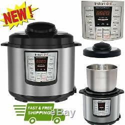 Instant Pot Pressure Cooker 6 in 1 Programmable 6 Quart Electric Steel Instapot