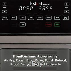 Instant Vortex Pro 10 Quart Air Fryer Oven Stainless Steel New