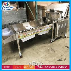 Kettle Corn maker 90 Quart Making Machine Commercial Gourmet Popcorn Vending