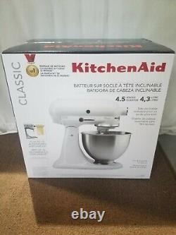 Kitchen Aid K45SSWH CLASSIC White 4.5-Quart Tilt-Head Stand Mixer KitchenAid