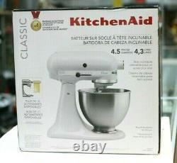 Kitchen Aid K45SSWH White 4.5-Quart Tilt-Head Stand Mixer KitchenAid