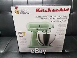 KitchenAid 4.5 Quart Tilt-Head Stand Mixer KSM88PT (Pistachio) New