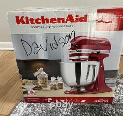 KitchenAid 5 Quart Tilt-Head Stand Mixer, Empire Red KSM150PSER