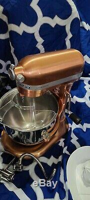 KitchenAid 7-Quart Bowl-Lift Stand Mixer Limited Edition Copper with attachments