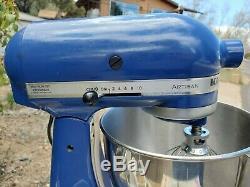 KitchenAid Artisan 325-Watt 5-Quart Tilt Head Stand Mixer with Hooks French Blue