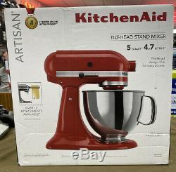 KitchenAid Artisan (KSM150PSER) 5 Quart Tilt-Head Stand Mixer Empire Red