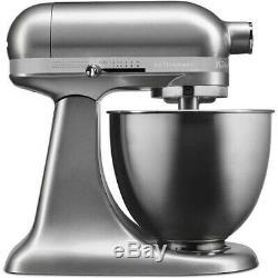 KitchenAid Artisan Mini 3.5 Quart Tilt-Head Stand Mixer Contour Silver