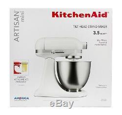 KitchenAid Artisan Mini 3.5 Quart Tilt-Head Stand Mixer Matte White