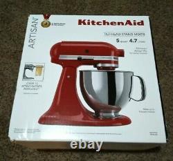 KitchenAid Artisan Series 5 Quart Tilt-Head Stand Mixer Empire Red BRAND NEW
