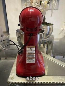 KitchenAid Artisan Series 5 Quart Tilt-Head Stand Mixer Empire Red-Read Desc