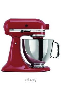KitchenAid Artisan Series 5 Quart Tilt-Head Stand Mixer Empire Red Refurbished