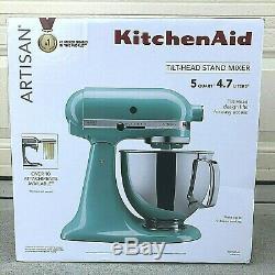 KitchenAid Artisan Series Stand Mixer Aqua Sky Teal 5 Quart Tilt-Head NEW Sealed