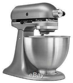 KitchenAid Classic Plus Series 4.5 Quart Tilt-Head Stand Mixer Silver KSM75