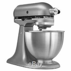 KitchenAid Classic Plus Series 4.5 Quart Tilt-Head Stand Mixer Silver New