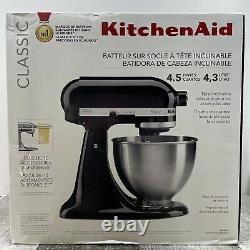 KitchenAid Classic Series 4.5 Quart Tilt-Head Stand Mixer, Black K45SSOB NEW