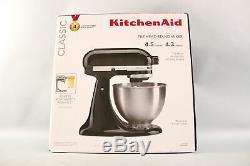 KitchenAid Classic Series 4.5 Quart Tilt-Head Stand Mixer Grey Black White