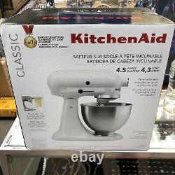 KitchenAid Classic Series 4.5 Quart Tilt-head White Stand Mixer 10 Speed K45SSWH
