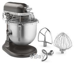 KitchenAid Commercial 8 Quart Bowl-Lift Stand Mixer with Bowl Guard Dark Pewte