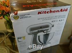 KitchenAid Deluxe 4.5 Quart Stand Mixer Silver KSM88SL Countertop