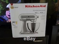 KitchenAid Deluxe 4.5 Quart Stand Mixer Silver KSM88SL Countertop 4.5QT