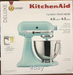 KitchenAid Deluxe 4.5 Quarts Tilt-Head Stand Mixer KSM97MI Mineral Water Blue