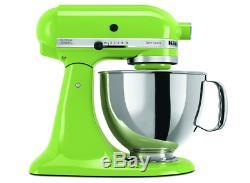 KitchenAid Green Apple Artisan 5-Quart Tilt-Head Stand Mixer KSM150PSGA, New