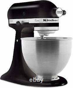 KitchenAid K45SSOB Classic 4.5 Quart Tilt Head Stand Mixer Onyx Black BRAND NEW