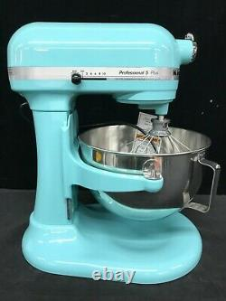 KitchenAid KP25M0XAQ Professional 5 Plus 5 Quart Stand Mixer Aqua Sky New