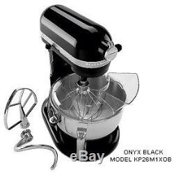 KitchenAid KP26M1XOB Professional 600 Series 6-Quart Stand Mixer, Onyx Black